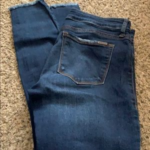 STS Blue Emma Ankle Skinny Raw Hem Jeans